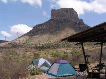 Campsite in the Chisos Basin