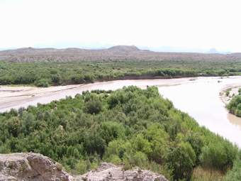 Terlingua and Rio Grand Rivers meet.