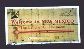 Entering New Mexico sign