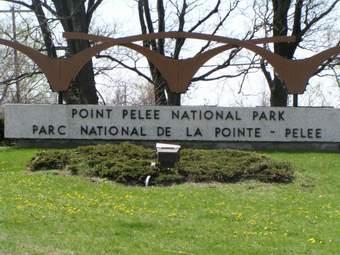 Pt. Pelee entrance sign